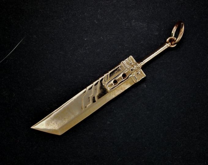 FFVII Buster Sword Pendant in Antique Bronze