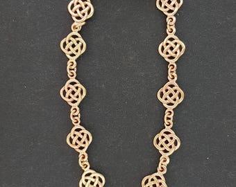 Endless Knot Bracelet in Antique Bronze