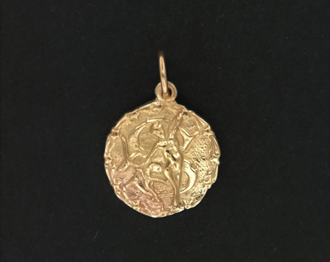 Zodiac Medallion Sagittarius in Antique Bronze