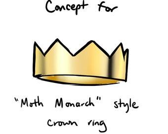 Custom Ring for Moth Monarch