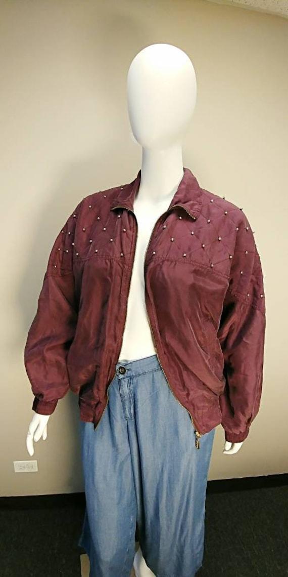 Fuda International Silk Bomber jacket - image 1