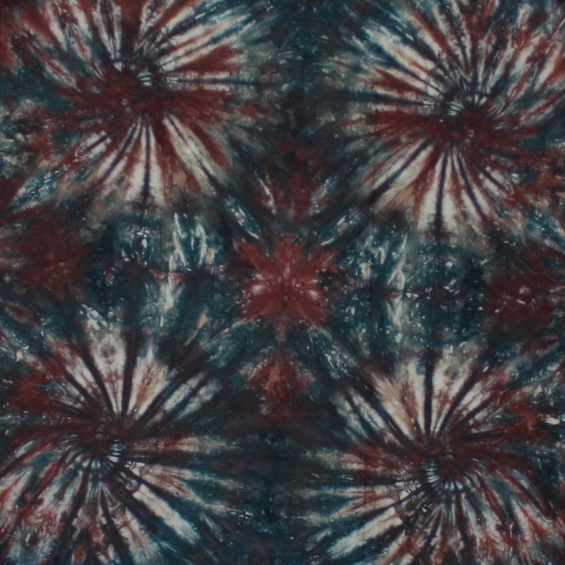 Hand dyed one-yard spiral fabric 276