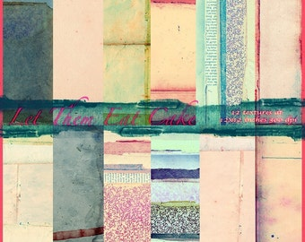 Let Them Eat Cake Texture Pack, 12x12 Inches, Digital, Download, Backgrounds, Textures, Vintage