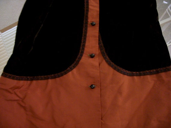Vintage Art Deco Tunic Jacket in Brown Corduroy a… - image 3