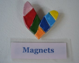Pink Colorful Heart Magnet