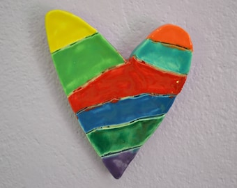 Green Rainbow Heart