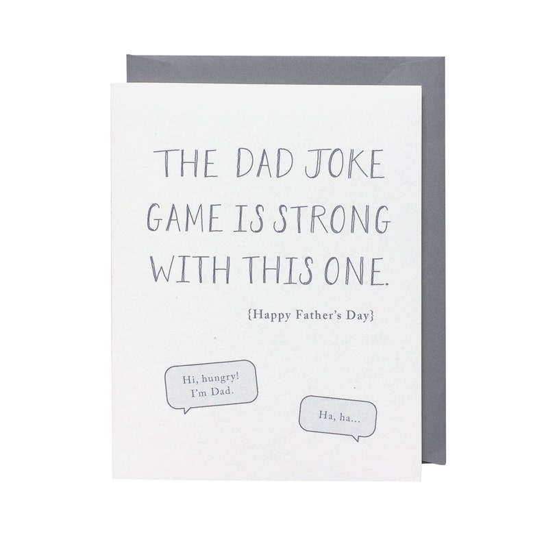 Dad Joke / Bad Jokes / Dad / Father / Father's Day / Humorous / Card for  Him / Card for Dad / Dad Humor / Corny / Blank Greeting Card