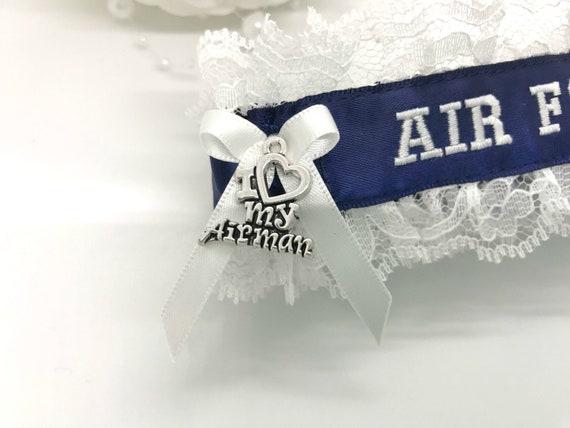Air Force Wedding Garter Military Wedding Garters Etsy