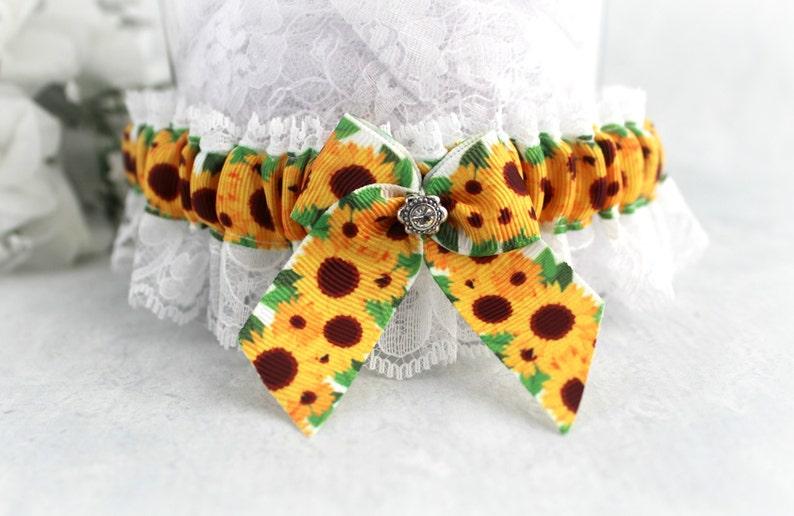Sunflower Garter for Bride Rustic Wedding Lace garter. Sunflower Bridal Garter Sunflower Wedding Garter Sunflower Wedding