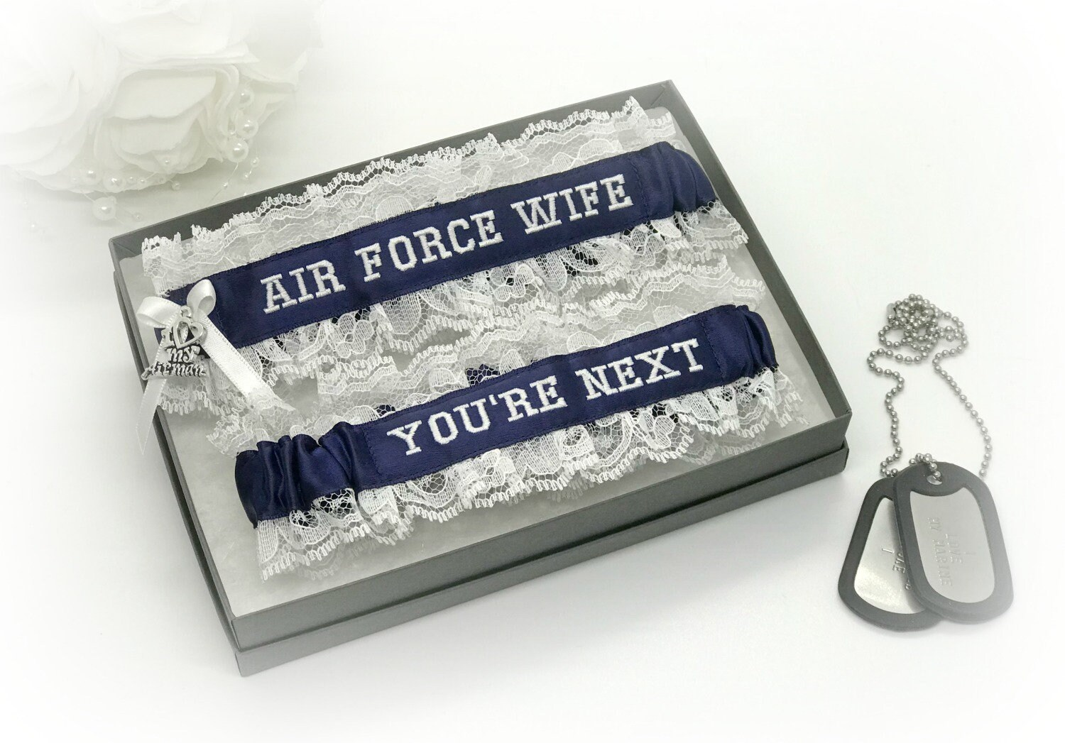 Air Force Wedding Garter Military Wedding Garters Air
