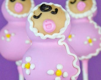 Wrapped Baby Cake Pops