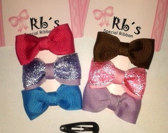 Baby Hair Bows 12 unit (each with 3 bows)