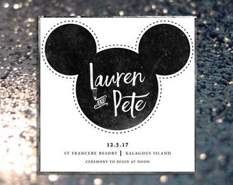 INSTANT DOWNLOAD Mickey and minnie mouse wedding invitation
