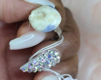 Claude Dana Collection adjustable Rhodonite ring
