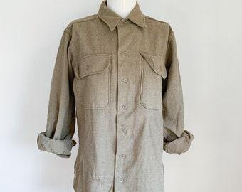 Vintage 1970s Army Wool Flannel / M
