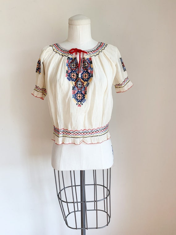 Vintage 1930s Hungarian Hand Embroidered Peasant B