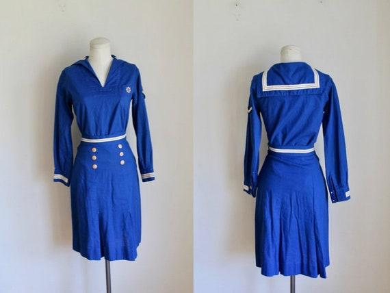 Vintage 1930s Official Girl Scout Mariner Uniform
