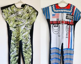 Vintage 1970s-80s Lot of 2 Halloween Costume (Astronaut 8-10x & Mummy 10-12x)