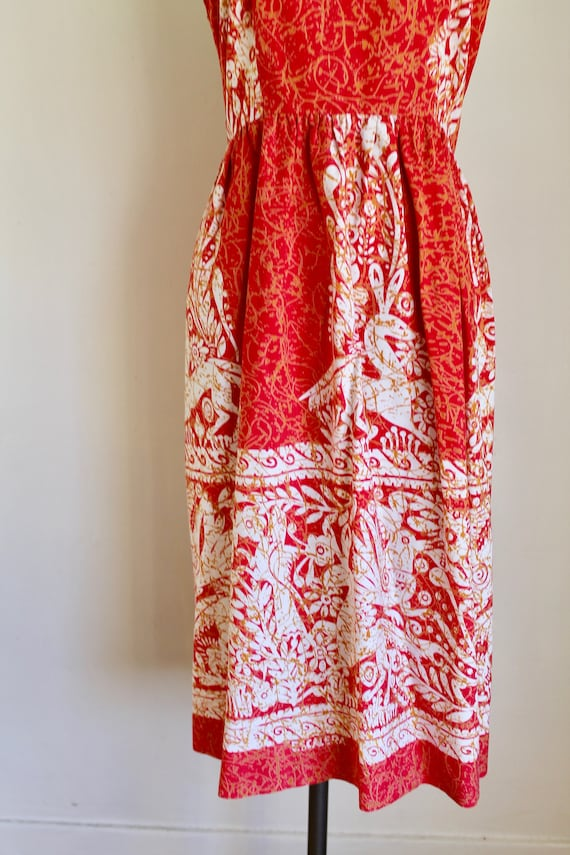 Vintage early 1960s Batik Halter Sundress / XS - image 4