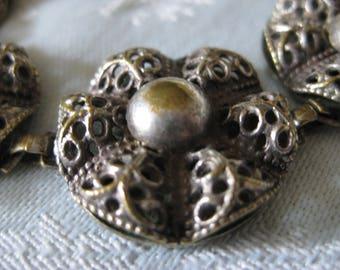 Antique Filigree Silver Bracelet
