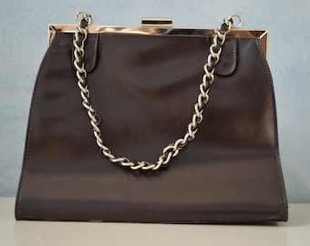 VICTORIA WIECK Leather Square Beverly Hills Handbag/Purse