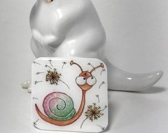 Whimsical Snail Lapel Pin
