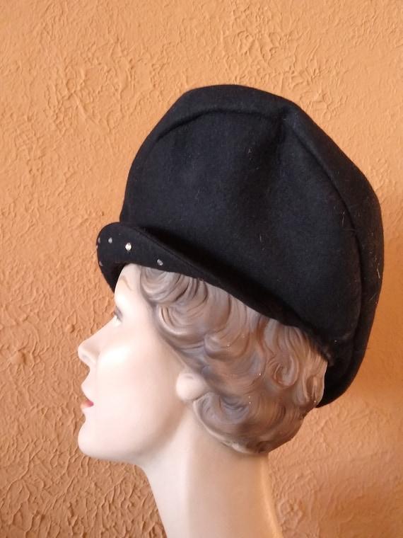 1940s Sculptural oversized platter hat - image 2