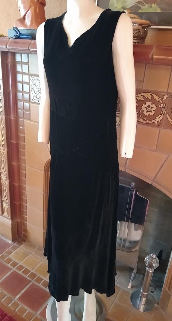 Fantastic 1920s Silk Velvet dress - image 1