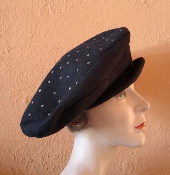 1940s Sculptural oversized platter hat - image 3