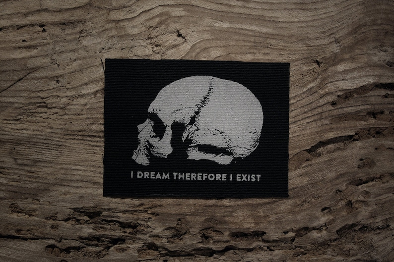 I dream therefore I exist screen printed PATCH August Strindberg