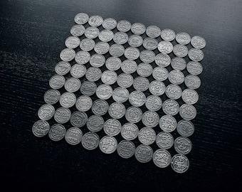 Ars Goetia, demon seals / sigils coins, wooden altar piece - COIN SET (deluxe demonic edition)