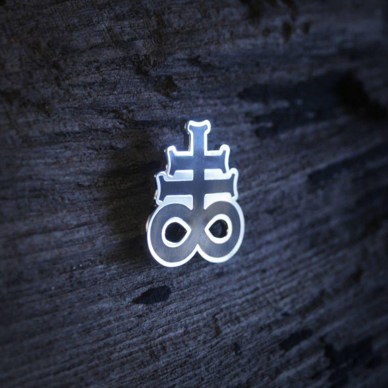 shaped PIN Leviathan Cross