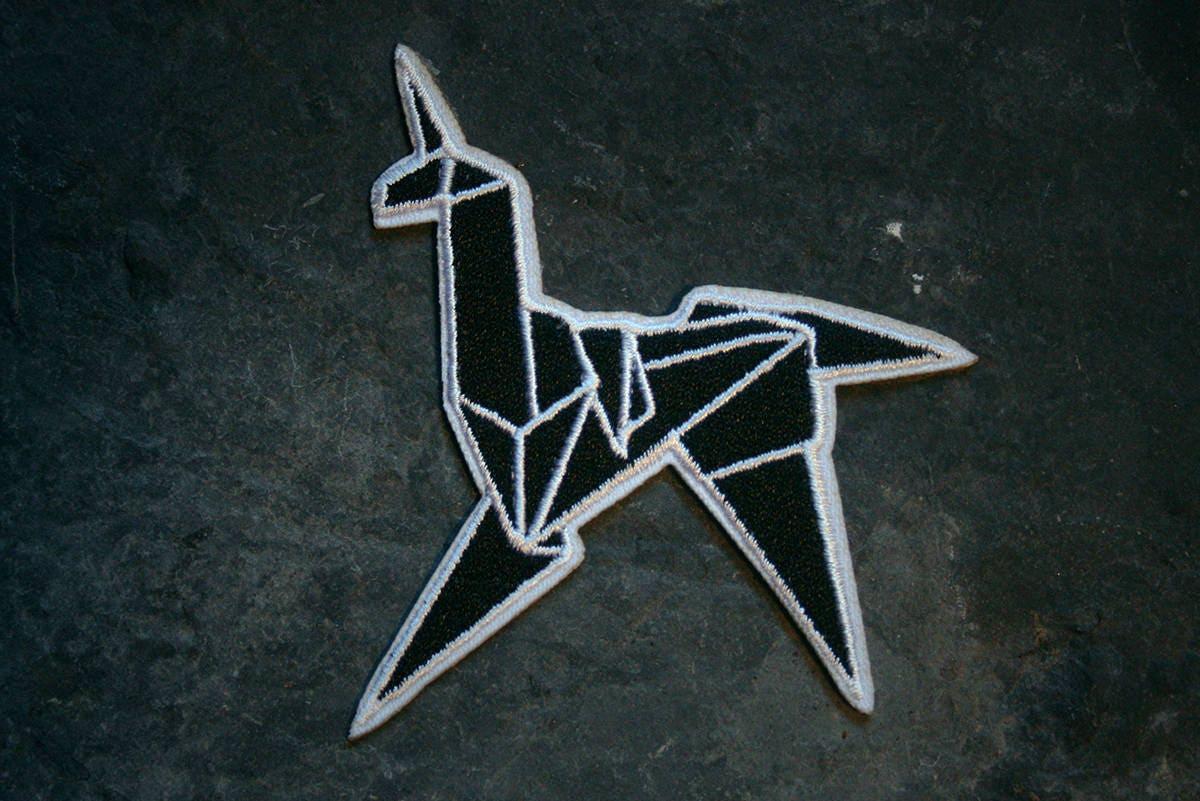 Blade Runner Origami Unicorn Pin: Unicorn Origami Blade Runner Fan-art PATCH