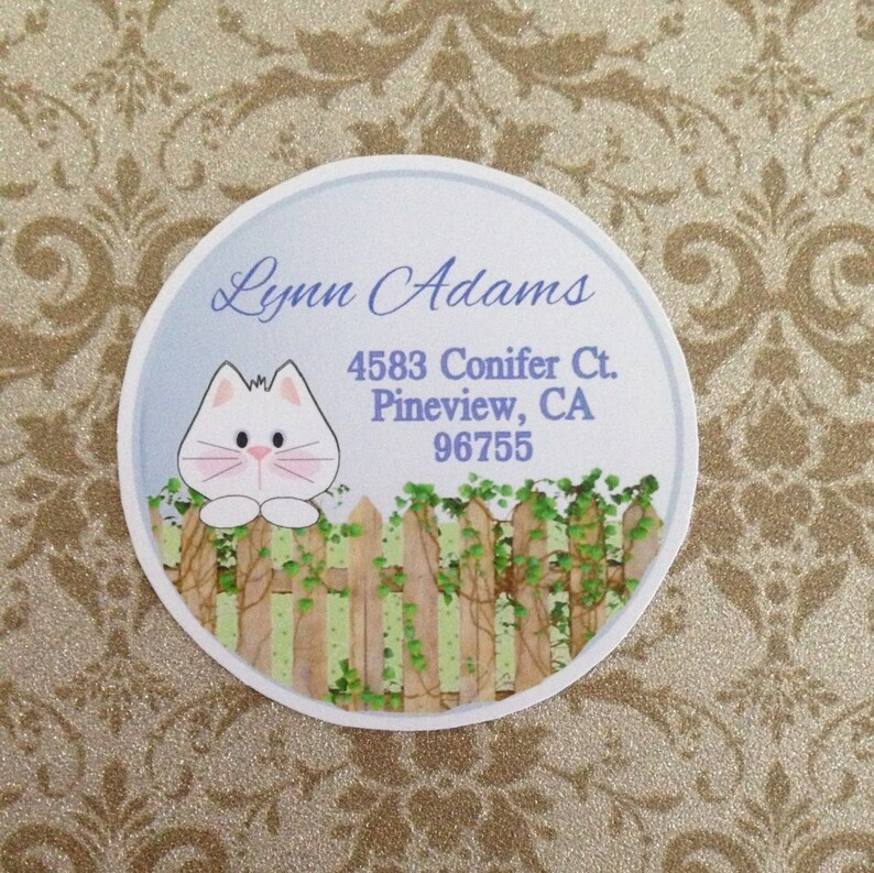 Cat Return Address Labels