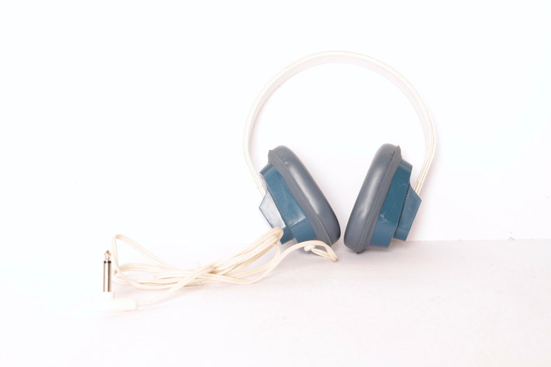 vintage 60s 70s STEREO headphones old school vintage school headphones,  great sound!