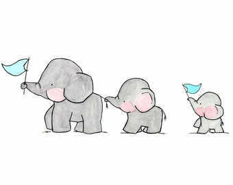 Elephants on Parade -- Archival Print