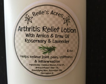 Arnica and Emu Arthritis Relief Cream with Rosemary and Lavender essential oils