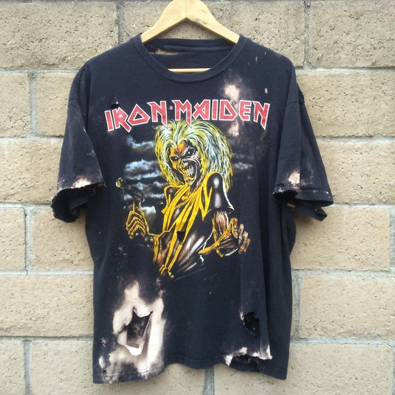 Iron Maiden TShirt / Band TShirt / Distressed Tee / Graphic / Music  Festival / Grunge / Heavy Metal / Rocker Tee / Unisex / Men / Women