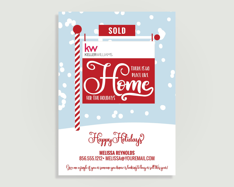 Realtor Christmas Card Real Estate Holiday Card Card Etsy