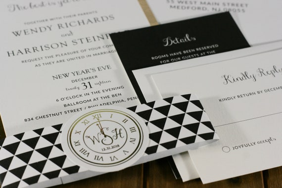 new years eve wedding invitations nye invitation ring in the new
