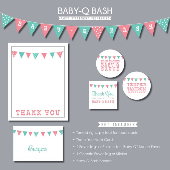 photograph about Thank You Banner Printable called Youngster-Q Celebration Kid Shower Printables - Banner - Thank On your own Card