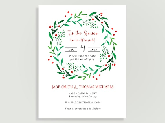 Christmas Save The Date.Christmas Save The Date Married Christmas Holiday Wedding Magnet Available Diy Printable Or Printed Destination Love 00209 Stda2