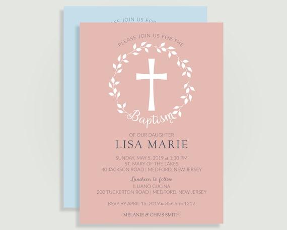 Christening Baby Shower Confirmation Invitation Invites Sheets /& Envelopes Pack