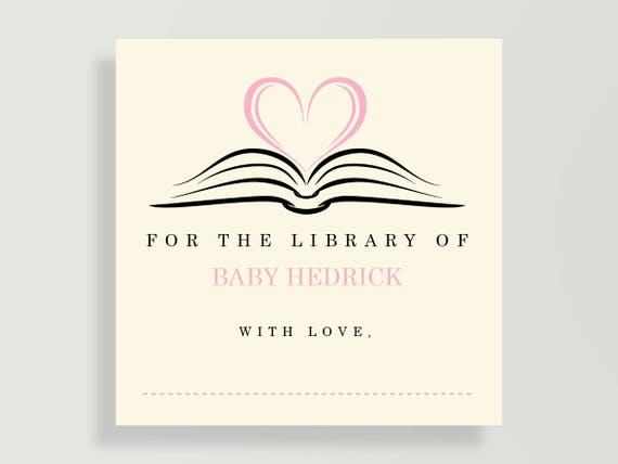 Bookplate For Childrens Book Baby Shower Wishing Well Etsy