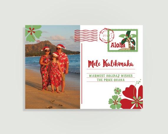 Mele Kalikimaka Christmas Cards.Hawaii Photo Christmas Card Mele Kalikimaka Card