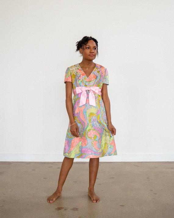60s Dress / Vintage Silk Dress / Designer Cocktail
