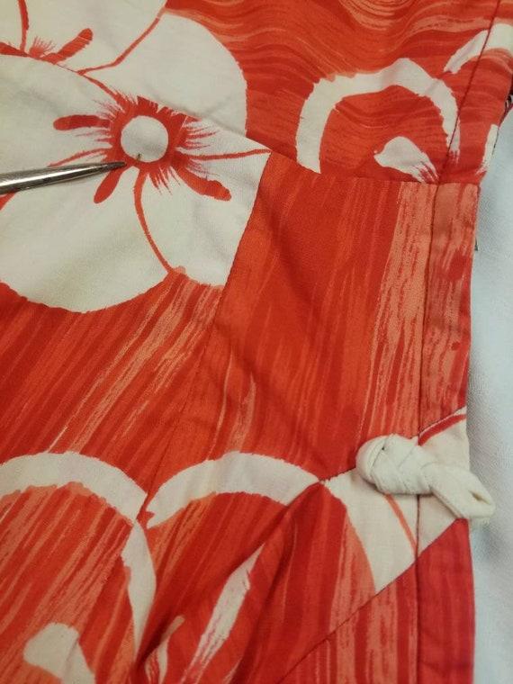 Hawaiian Dress / 50s 60s Tori Richard Sarong Dres… - image 6