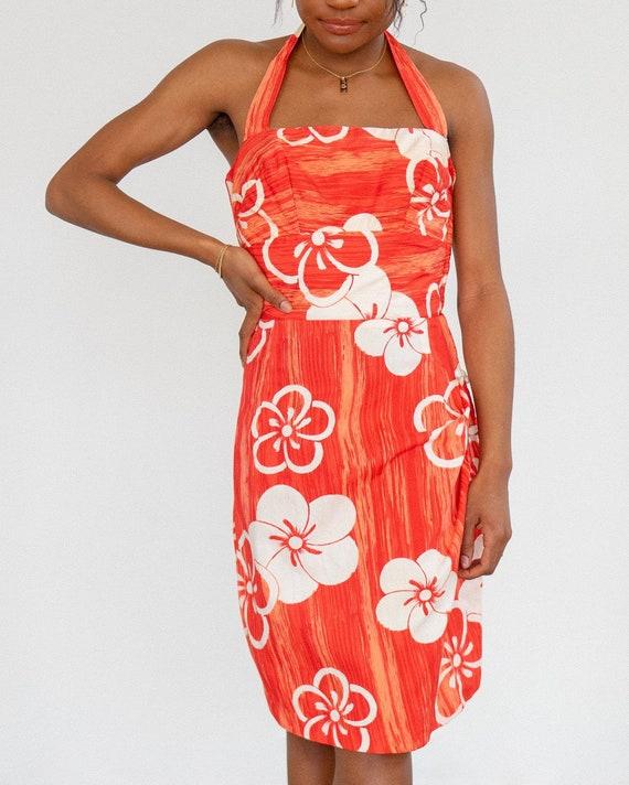 Hawaiian Dress / 50s 60s Tori Richard Sarong Dres… - image 1