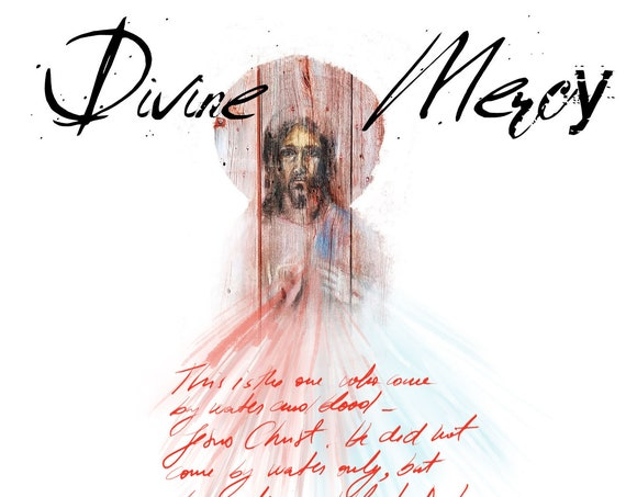 Divine Mercy bible journaling elements - digital download