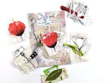 Do you love Me?- ADD ON sewn flowers - 3 piece
